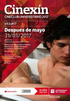 La actividad del Cineclub Universitario Cinexín arrancará el martes 31 de enero, en la Filmoteca Azcona, que acogerá el ciclo #92uR17, con la película Después de mayo (2012), de Olivier Assayas.