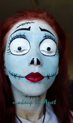 Nightmare Before Christmas face paint inspiration pic