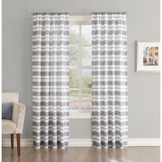 Better Homes And Gardens Horizontal Stripe Curtain Panel