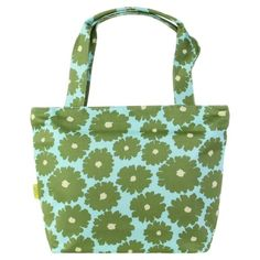 Miss Kim Tote in Poppies Green