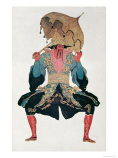 Costume Design For a Chinaman, from Sleeping Beauty, 1921    by Leon Bakst Item #: 4046531