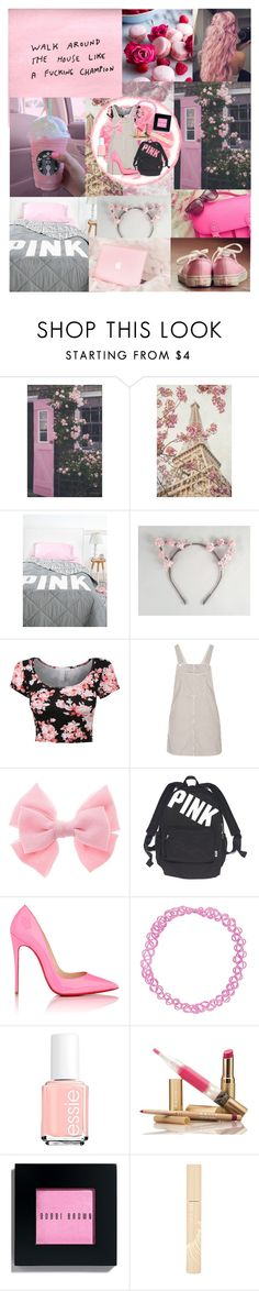 """""""  walk around the house like a champion  """" by eyes-wide-open-x ❤ liked on Polyvore featuring Topshop, Victoria's Secret, Christian Louboutin, Essie, Bobbi Brown Cosmetics and Stila"""
