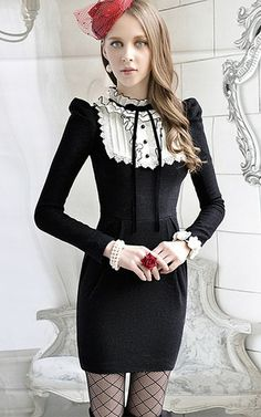 Online shopping club in New Zealand Kawaii Clothes, Kawaii Outfit, Ruffle Collar, Fashion Brands, Footwear, Street Style, Black And White, Lady, Fashion Design
