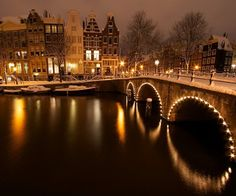 Amsterdam. I would love to go and in the winter with the snow all around seems perfect!