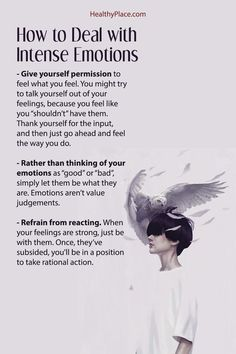 Dealing with intense emotions can be challenging. Learn 3 practical ways to deal with intense emotions at HealthyPlace Mental Health Facts, Mental Health Disorders, Mental And Emotional Health, Stress Disorders, Mental Health Awareness, Mental Health Recovery Quotes, Mental Illness Facts, Emotional Awareness, Trauma Quotes