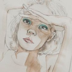 #watercolor #sun #sunny #girl #gold #illust #illustration #sketch #style #drawing #drawingbijou #art #painting #eyeshadow #draw #pencil #손그림 #취미 #소녀 #감성일러스트 #드로잉 #스케치 #일러스트