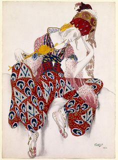Léon Bakst  (Russian, Grodno 1866–1924 Paris). Costume Study for Nijinsky in his Role in La Péri, 1922. The Metropolitan Museum of Art, New York. Gift of Sir Joseph Duveen, 1922 (22.226.1)