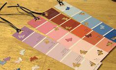 Paint chip strip bookmarks!