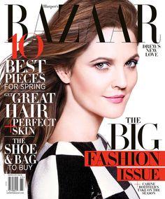 Drew Barrymore - Harper's Bazaar Magazine Cover [United States] (March 2013)