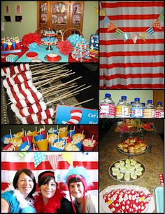 Dr. Seuss Party.  Thing 1 and Thing 2.  Free Printables.  Project Tutorials.