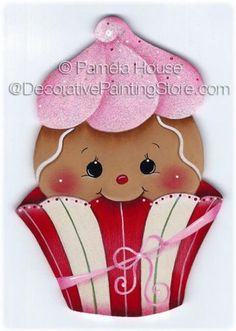 Cutie Cake Gingerbread Painting E-Pattern Gingerbread Decorations, Gingerbread Ornaments, Christmas Gingerbread, Christmas Decorations, Christmas Makes, Christmas Art, Christmas Projects, Ginger Babies, Pintura Country