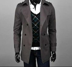 Crazy promotion ! new designer slim sexy trench coat men overcoat long sleeve mens clothing business outerwear casaco masculino