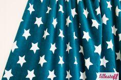 lillestoff » Nicki Stars petrol/weiß « // ausverkauft