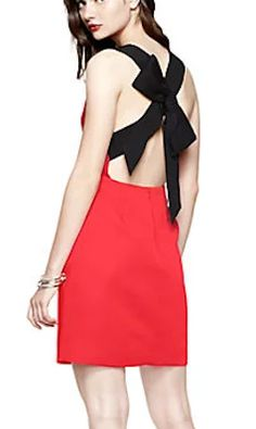 red dress with black bow back