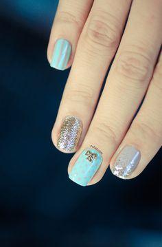 Khroma Nail polish Nail Jewelry and Hex -pretty nail art from Pshiit Great Nails, Perfect Nails, Love Nails, Tiffany Blue Nails, Jolie Nail Art, Kardashian, Nail Jewelry, Fingers Design, Nail Polish Art