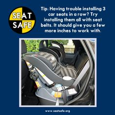 Car Seat Safety three across