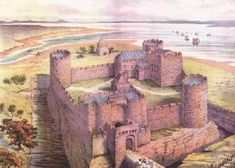 Liverpool Castle, now the site of the Victoria Monument, Castle Street. Uk History, History Page, Local History, Family History, Liverpool Map, Liverpool History, Liverpool England, Medieval Life, Medieval Castle