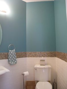Small Bright Tropical Powder Room - tropical - powder room - chicago - Your Favorite Room By Cathy Zaeske