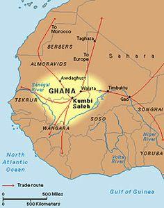 Western African Kingdom's of Ghana, Mali, and Songhay map. Africa Map, West Africa, African Culture, African History, Ghana Empire, Capital Of Ghana, Flipped Classroom, Africa