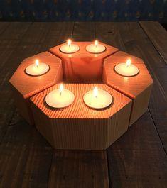 Tea Light Set of 4, Tea Light Candle Holder, Candle Holder, Tea Light Candle, Rustic Candle Holder, Wood Tea Light Holder, Wood Candle Holder by Roar Timberworks Australia