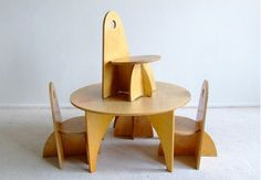 vintage children's table & chair set by ADO