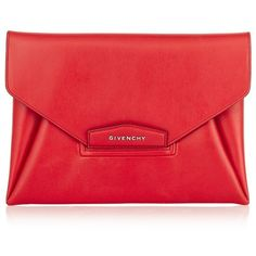 Givenchy Antigona Envelope Clutch (3.280 BRL) ❤ liked on Polyvore featuring bags, handbags, clutches, purses, borse, givenchy, envelope clutch, genuine leather handbags, leather purse and leather hand bags