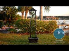Water Trellis Copper Evergreen Glass Floor Fountain | VIWT8 | BluWorld