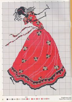 Black dancing woman chart Picture from Cross stitch. Cross Stitch Numbers, Dmc Cross Stitch, Cross Stitching, Cross Stitch Embroidery, Modern Cross Stitch Patterns, Cross Stitch Designs, Needlepoint Stitches, African Design, Le Point