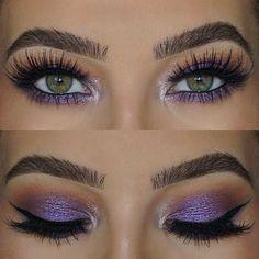 Purple Eye Makeup Look for Green Eyes