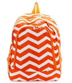 Cute Chevron Backpacks for School - Best Brands Powered by RebelMouse Glitter Chevron, Rainbow Chevron, Orange Chevron, Chevron Backpacks, Orange Backpacks, Monogram Backpack, Back To School Fashion, School Shopping, School Backpacks