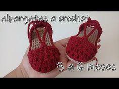 alpargatas en punto piña -bebe- 3 a 6 - klara Crochet Baby Sandals, Booties Crochet, Baby Girl Crochet, Crochet Baby Clothes, Crochet Shoes, Crochet Slippers, Love Crochet, Baby Booties, Baby Sweater Knitting Pattern