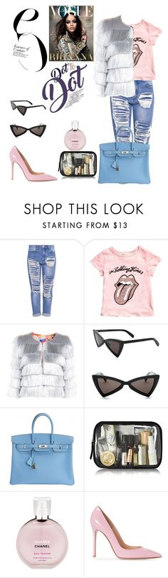 """""""VOGUE Rihanna"""" by ludyabelieveinme ❤ liked on Polyvore featuring Yves Saint Laurent, Hermès and Chanel"""