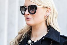 #Prada sunglasses + Pamela Love earrings