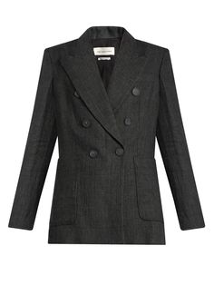 Isabel Marant Étoile Janey Prince of Wales-checked linen blazer at MATCHESFASHION.COM