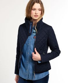 Shop Superdry Womens Microfibre Windhiker Jacket in Navy. Buy now with free  delivery from the Official Superdry Store.
