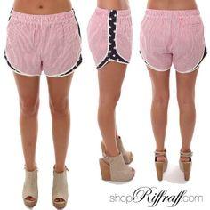 Stars and Stripes Seersucker Shorts #FREESHIPPING