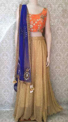 Lehenga Choli/Chaniya Choli/ Garbha Dress Indian Dresses, Indian Outfits, Desi Clothes, Indian Clothes, Lengha Choli, Embroidered Silk, Party Wear, Indian Fashion, Bridal Dresses