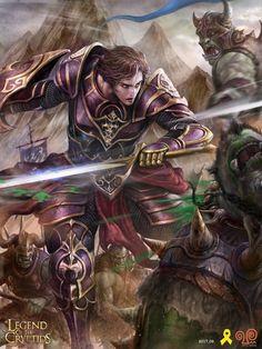 Artist: Yang Mansik aka yam8417 - Title: one hand knight reg - Card: Ermidal, Choosing Sides