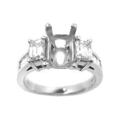 1.00 ct EMERALD CUT DIAMOND ENGAGEMENT RING MOUNTING http://www.larrysfinejewelryinc.com/