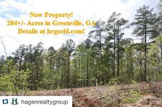 From @hagenrealtygroup: New Property is Up on Our Website! 284/- Acres in Greenville Georgia! What an Opportunity! #RealEstate #NewProperty #Acreage #TimberTract #Huntingtract #Georgia #MeriwetherGa #Greenville #Forsale #Investment