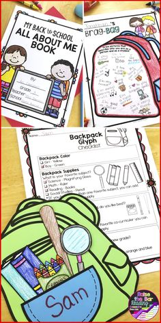Tons of engaging, fun back to school activities to welcome your new students to your classroom!  This bundle includes an all about me book, back to school glyphs, writing prompts, and back to school printable worksheets!