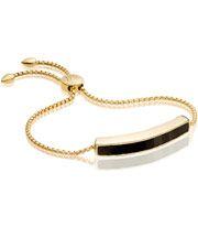 Gold Vermeil Black Onyx Baja Chain Bracelet