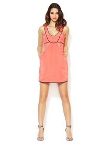 Sleeveless Piped Twill Dress by Thread Social