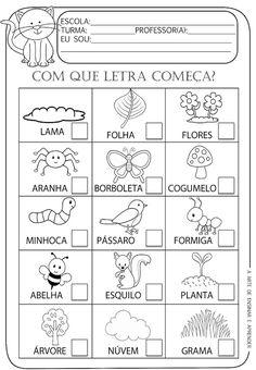 A Arte de Ensinar e Aprender: Atividade pronta - Letra inicial