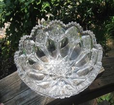 Cut glass Bowl Gorgeous Heavy Crystal intricate cut design A BEAUTY