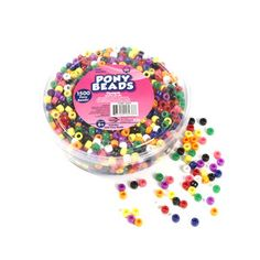 Kids Craft Plastic Pony Beads, Multi-Color Mix 1500 for $4.97 Walmarts