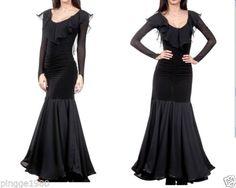 New Ballroom Ballroom Dress Skirt Dress Black Size L Have M L XL | eBay