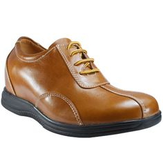 cheap brown men height increasing elevator casual shoes become taller 7.5cm / 2.95inches on sale at topoutshoes.com