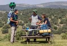 Volunteers are mapping Israel's National Trail with Google Street View cameras. Photo courtesy of SPNI