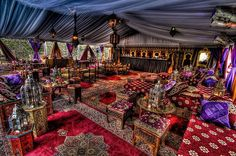 Moroccan tent.